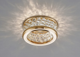 Dante Crystal Ceiling Lights Diyas Recessed Crystal Lights