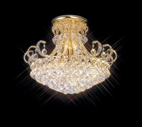 Pearl Crystal Ceiling Lights Diyas Traditional Chandeliers