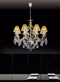 Torino Crystal Ceiling Lights Diyas Contemporary Chandeliers