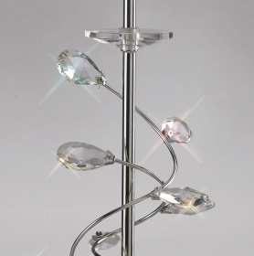 Willow Crystal Floor Lamps Diyas Traditional Crystal Floor Lamps