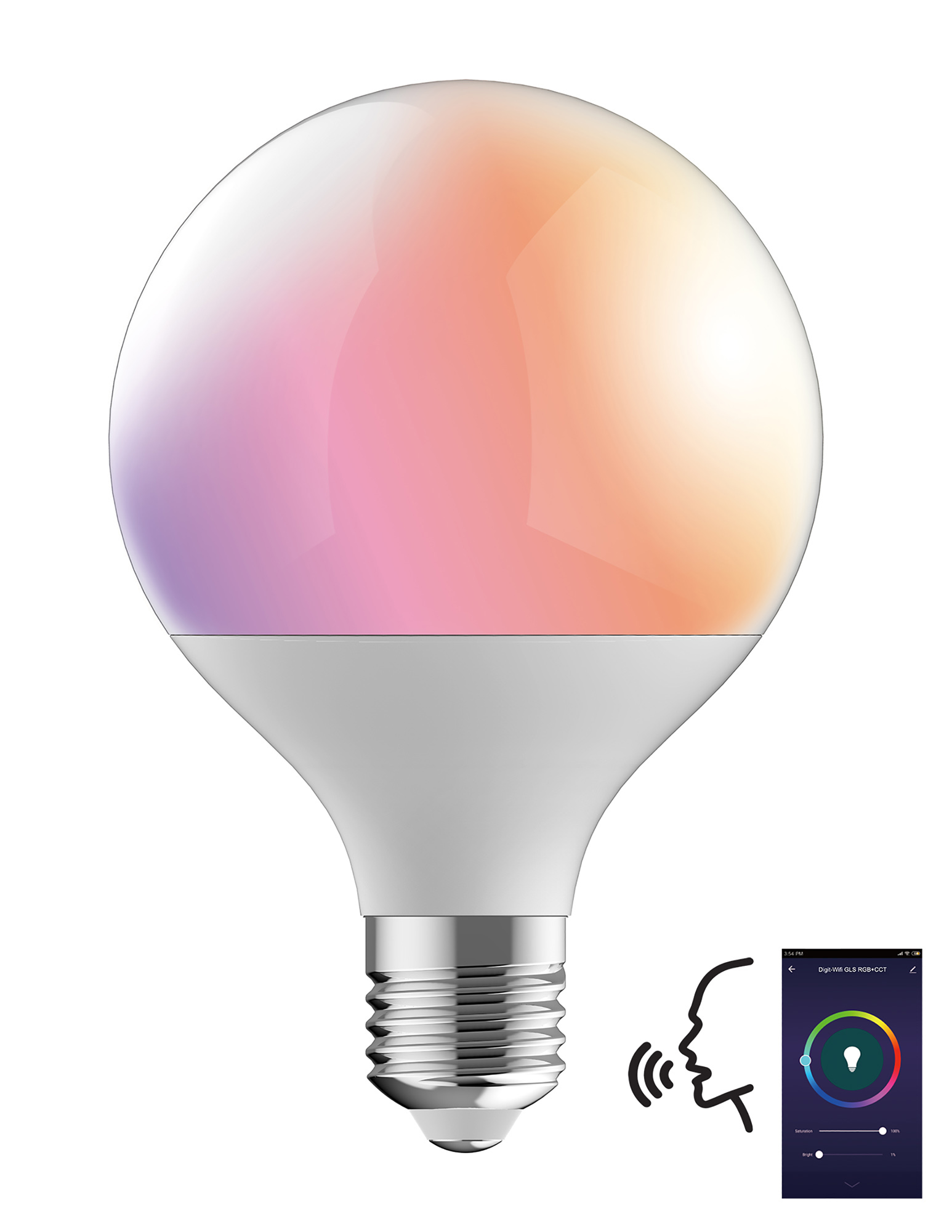 Digit Wi-Fi LED Lamps Luxram Globes