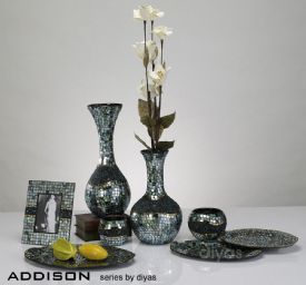 Addison Mosaic Art Glassware Diyas Home Platters