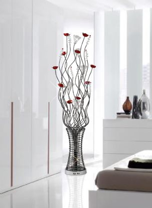 Rouge Aluminium Crystal Table Lamps Diyas Home Modern Crystal Table Lamps