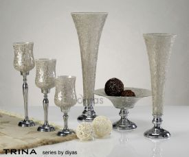 Trina Mosaic Art Glassware Diyas Home Hurricane Lamps
