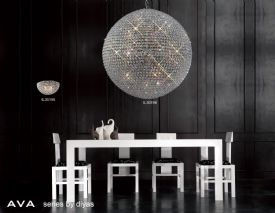 Ava Crystal Wall Lights Diyas Flush Crystal Wall Lights