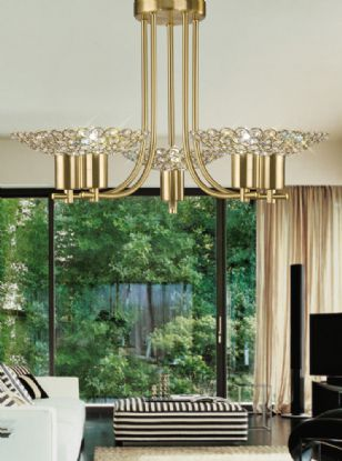 Ellen Crystal Ceiling Lights Diyas Contemporary Crystal Ceiling Lights