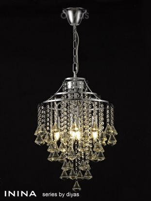 Inina Crystal Ceiling Lights Diyas Contemporary Crystal Ceiling Lights