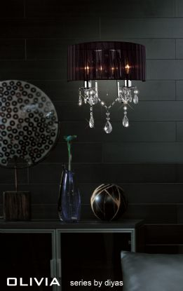 Olivia Crystal Table Lamps Diyas Contemporary Crystal Table Lamps
