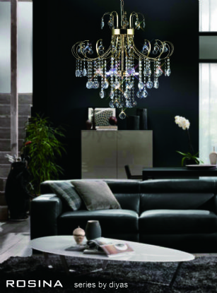 Rosina Crystal Ceiling Lights Diyas Contemporary Chandeliers