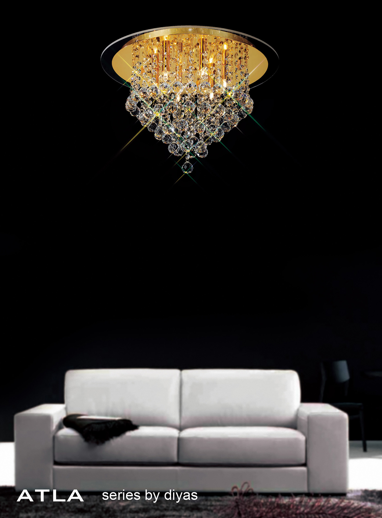 Atla Crystal Ceiling Lights Diyas Contemporary Crystal Ceiling Lights