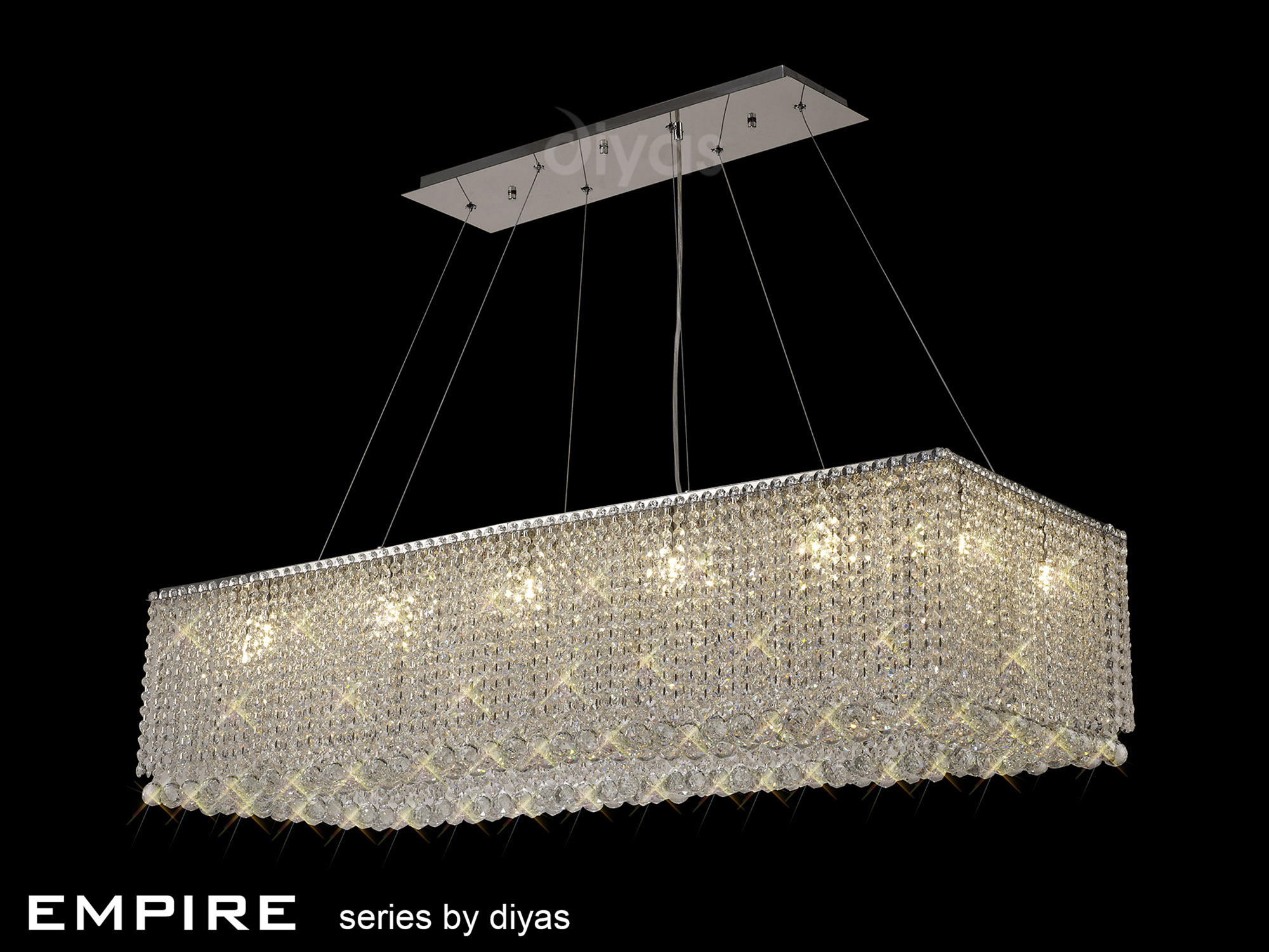 Empire Crystal Ceiling Lights Diyas Contemporary Crystal Ceiling Lights