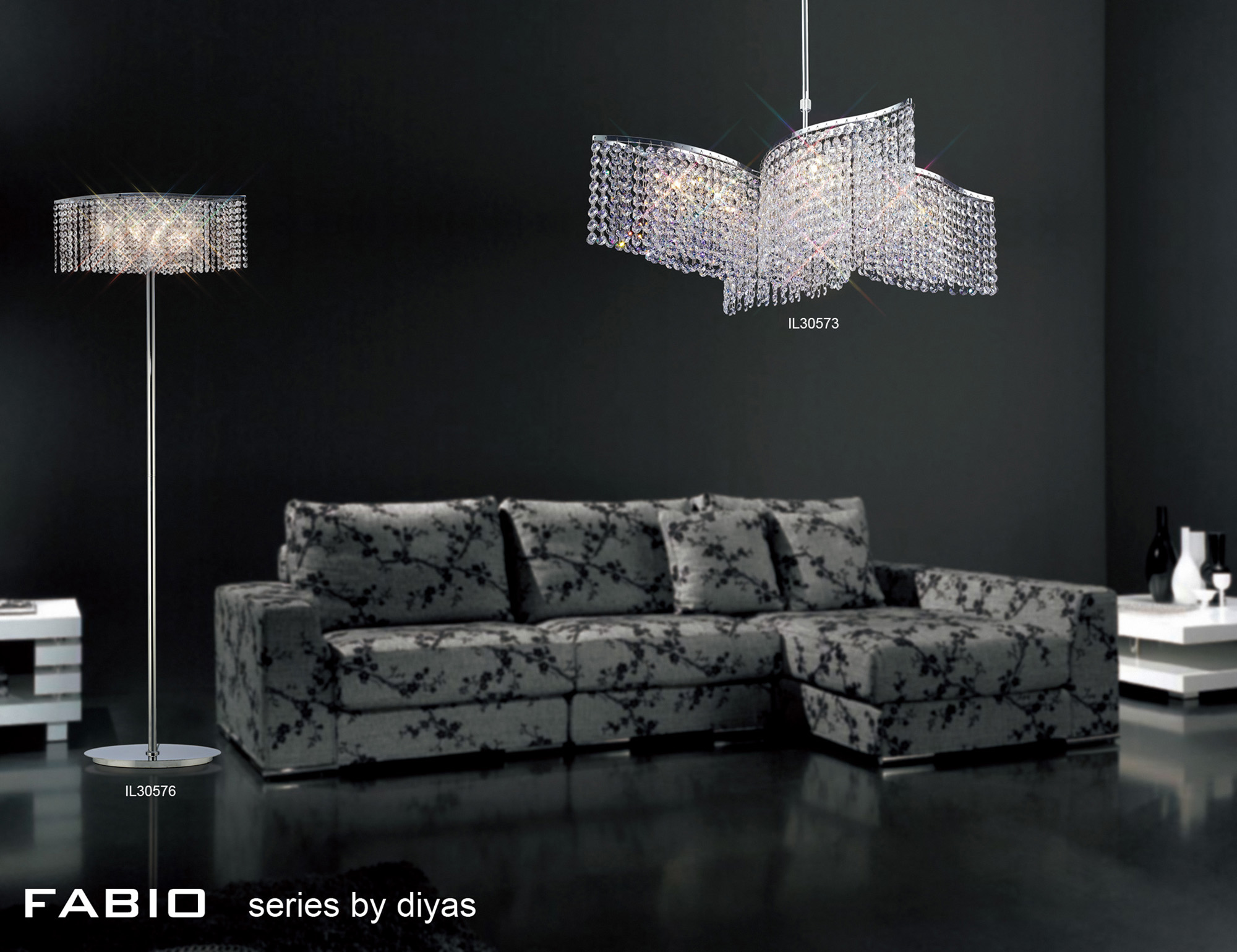 Fabio Crystal Floor Lamps Diyas Modern Crystal Floor Lamps