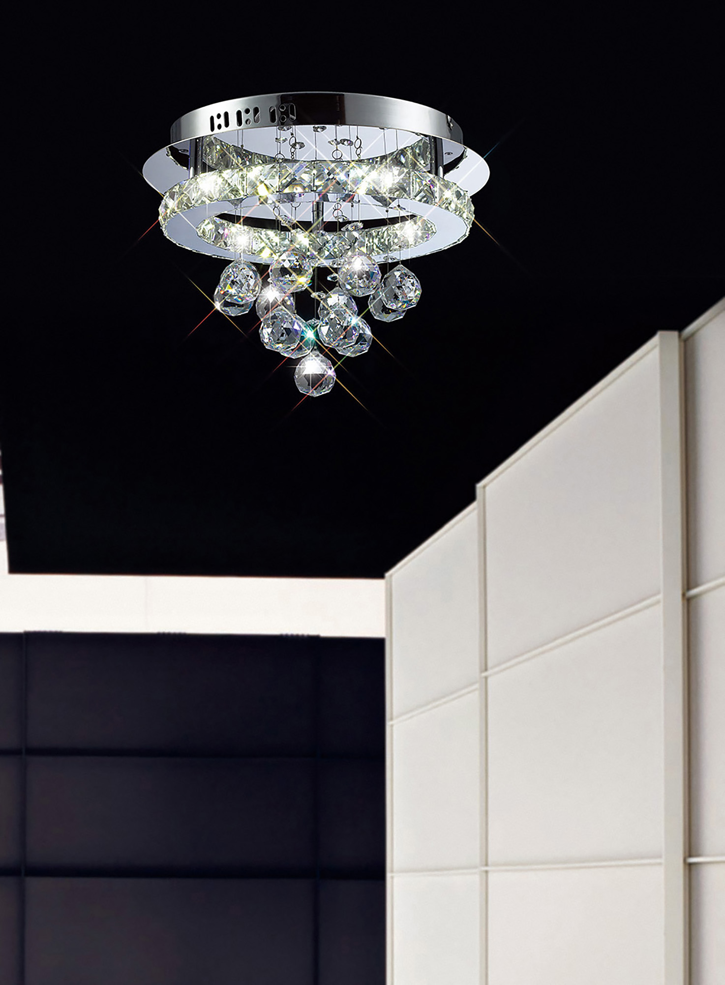 Galaxy Crystal Ceiling Lights Diyas Modern Crystal Ceiling Lights