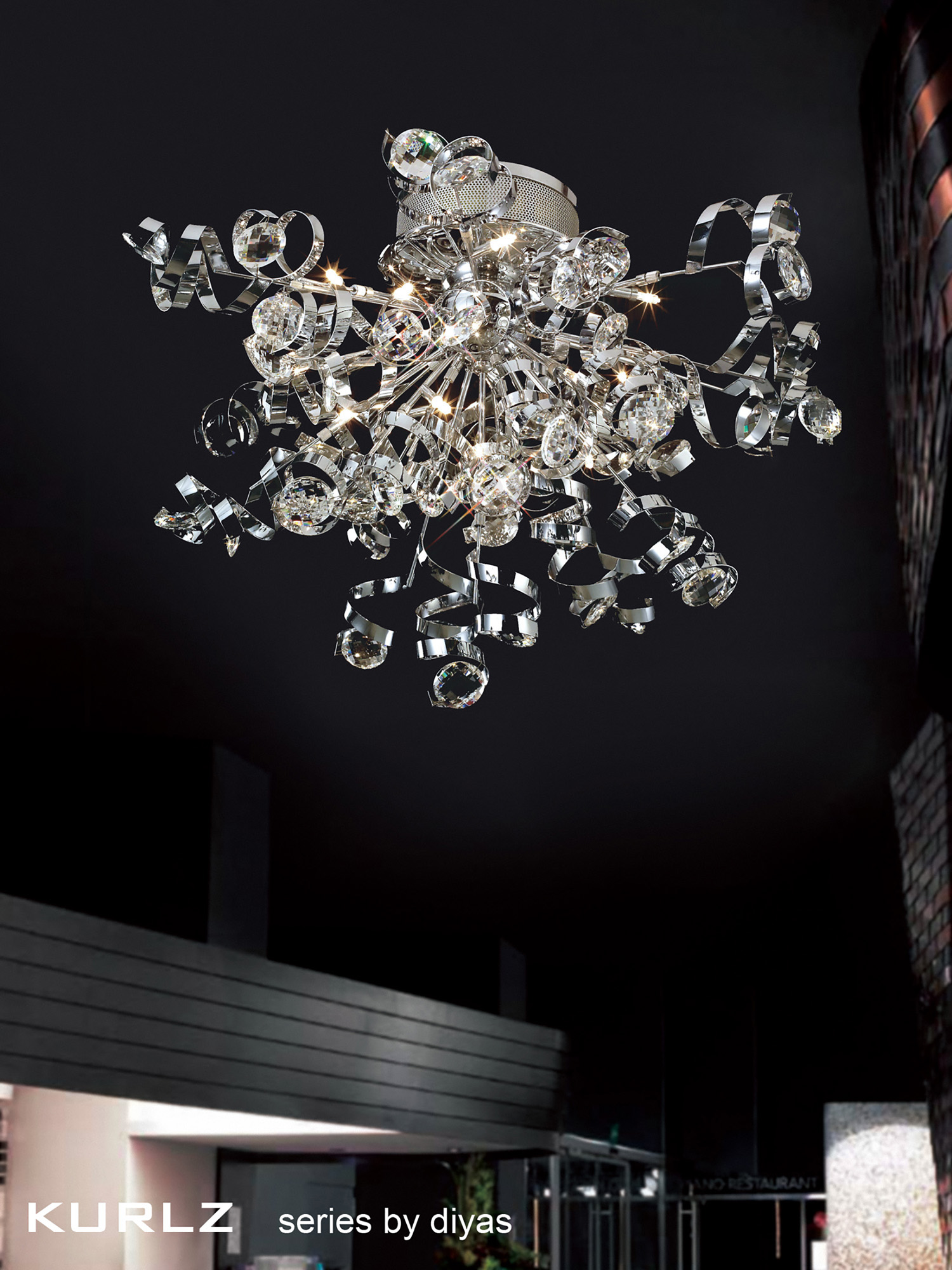 Kurlz Crystal Ceiling Lights Diyas Modern Crystal Ceiling Lights