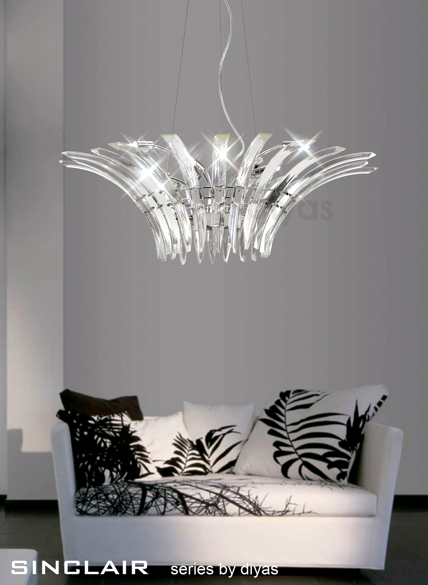 Sinclair Crystal Table Lamps Diyas Modern Crystal Table Lamps