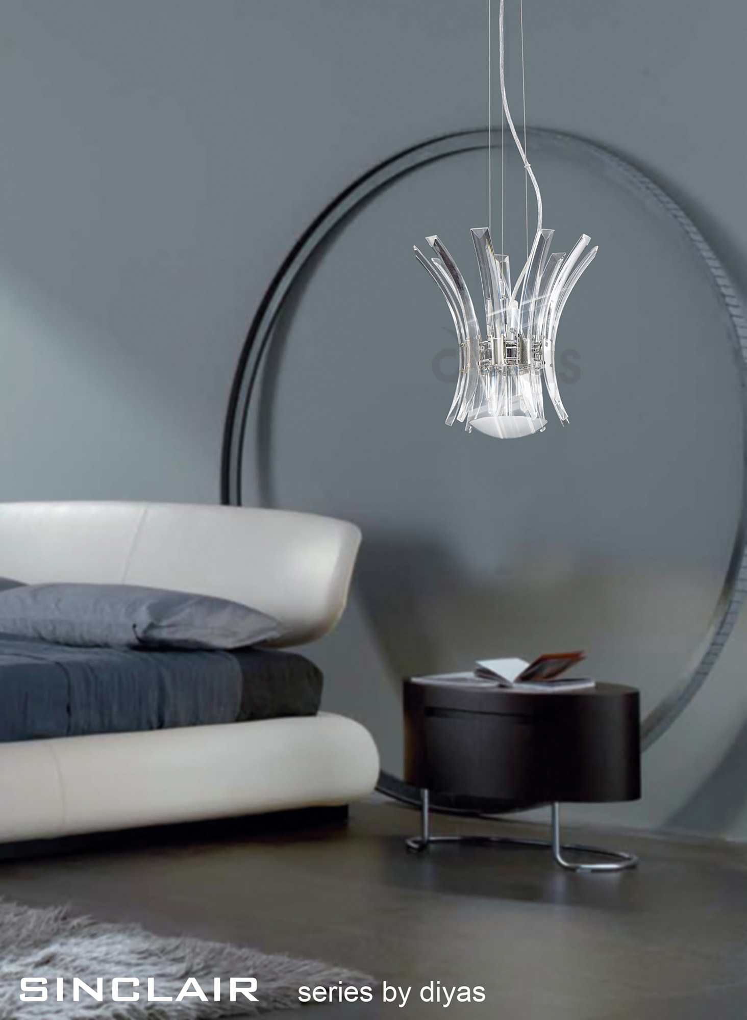 Sinclair Crystal Floor Lamps Diyas Modern Crystal Floor Lamps