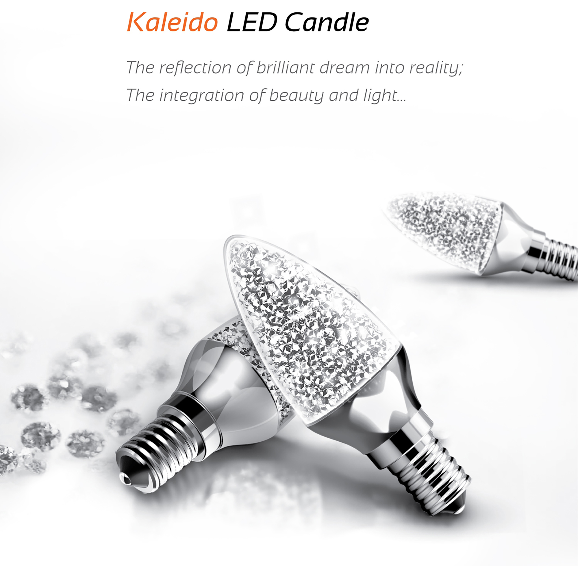 Kaleido Crystal LED Luxram Candle