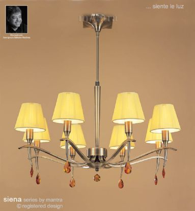 Siena AB Crystal Ceiling Lights Mantra Traditional Crystal Ceiling Lights