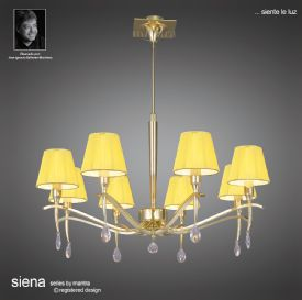 Siena PB Crystal Table Lamps Mantra Traditional Crystal Table Lamps