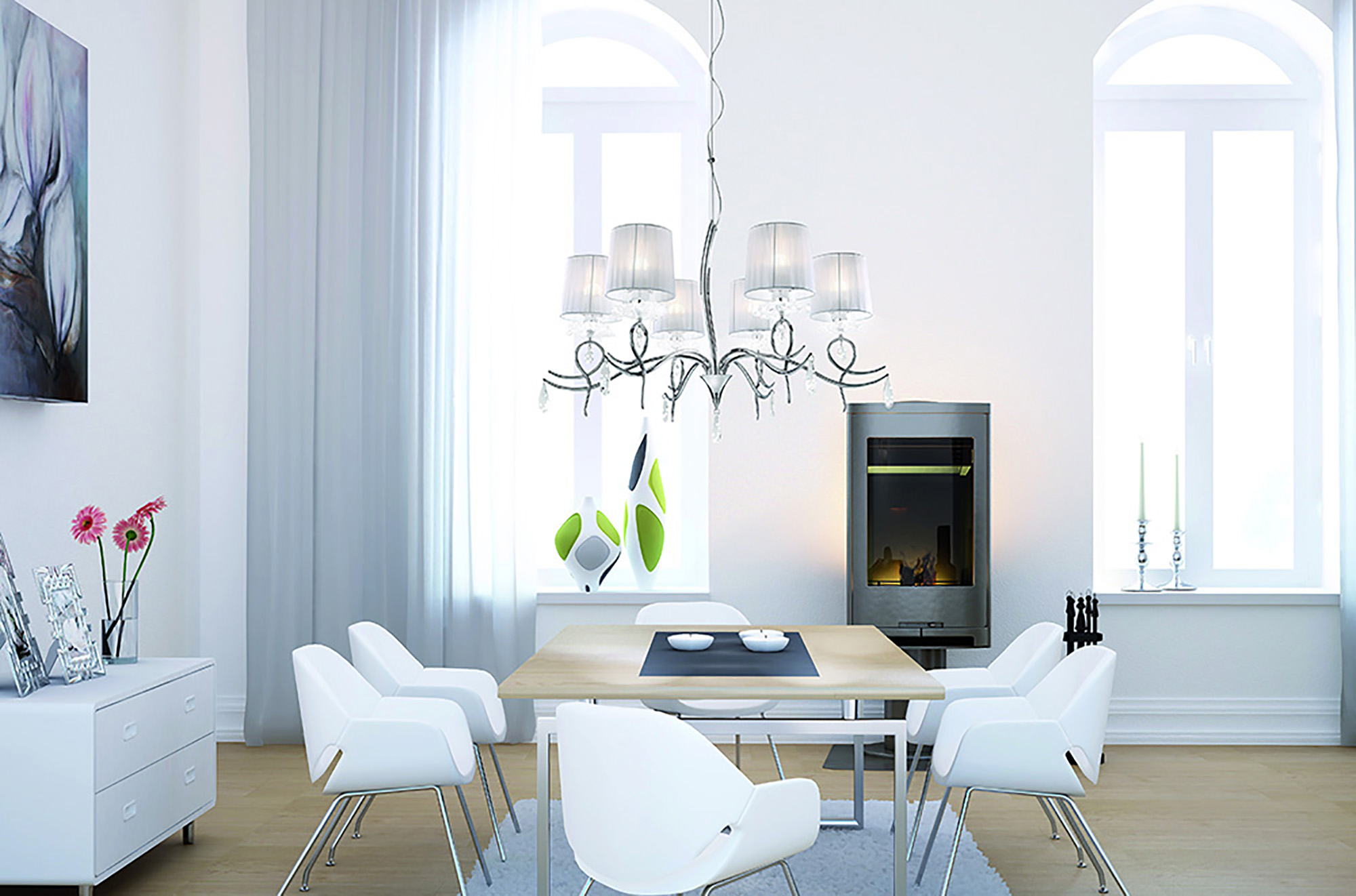 Louise Crystal Ceiling Lights Mantra Single Crystal Pendants