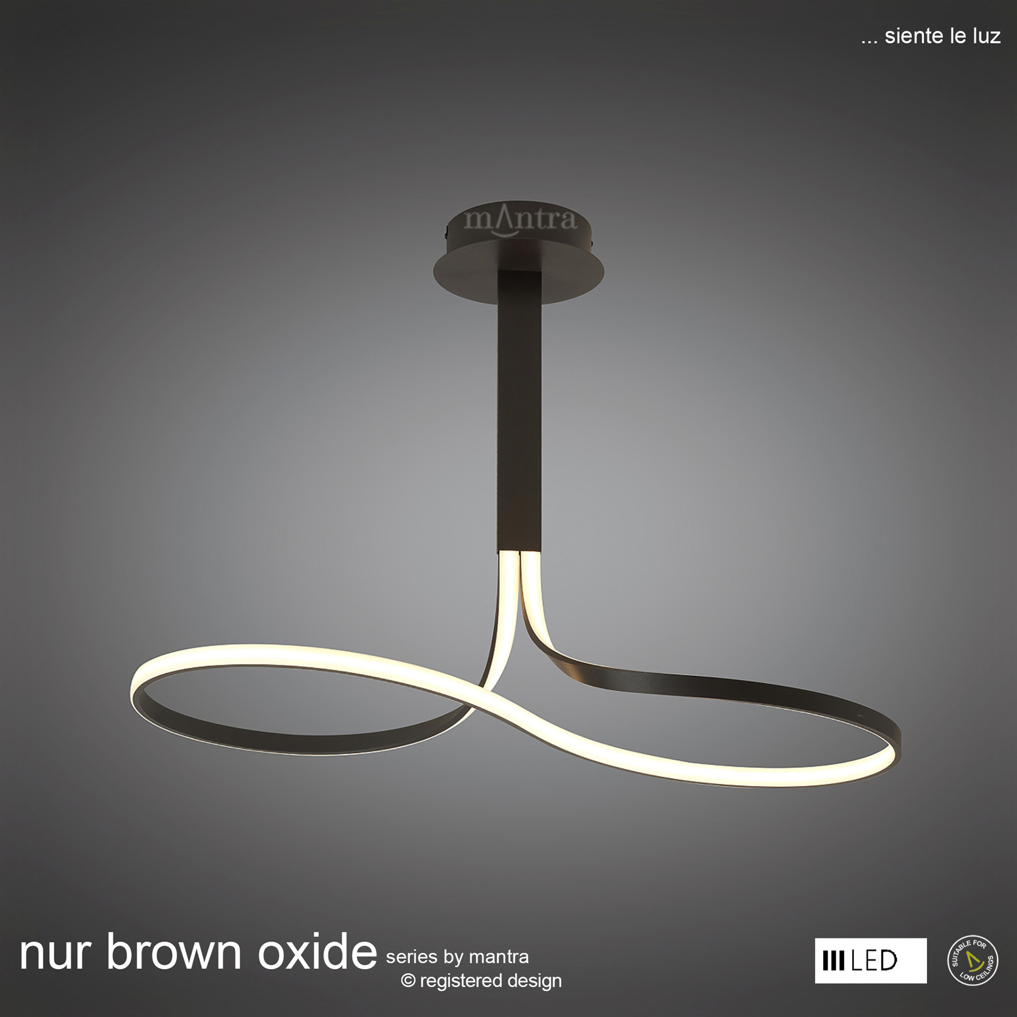 Nur Brown Oxide Wall Lights Mantra Contemporary Wall Lights