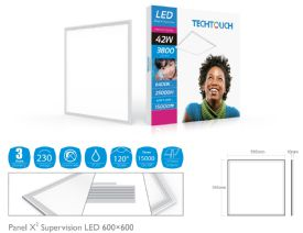 Panel X2 Supervision Recessed Ceiling Luminaires Techtouch Square/Rectangular Recess Ceiling