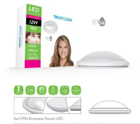 Surf Ecovision Ceiling Lights Techtouch Flush Fittings