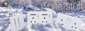 Trendi White Wiring Accessories Trendi Decorative Screwless