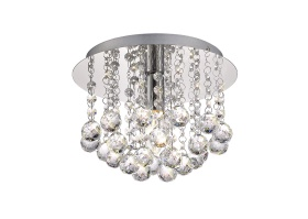 Acton Crystal Ceiling Lights Deco Flush Crystal Fittings