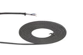 D0530  Cavo 1m Braided 2 Core 0.75mm Cable