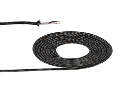 D0531  Cavo 1m Braided 2 Core 0.75mm Cable