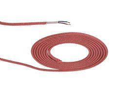 D0532  Cavo 1m Braided Twisted 2 Core 0.75mm Cable