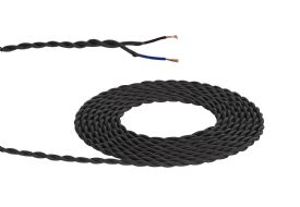 D0535  Cavo 1m Braided Twisted 2 Core 0.75mm Cable