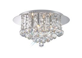 Dahlia Crystal Ceiling Lights Deco Flush Crystal Fittings