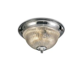 D0404  Macy Glass IP44 Flush Ceiling 2 Light