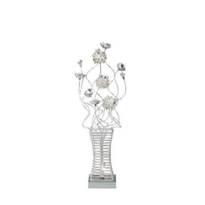 Majella Aluminium Crystal Table Lamps Diyas Home Modern Crystal Table Lamps