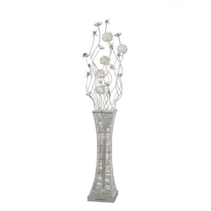 Majella Aluminium Crystal Floor Lamps Diyas Home Modern Crystal Floor Lamps