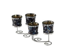 Myra Mosaic Art Glassware Diyas Home Tea Light Holders