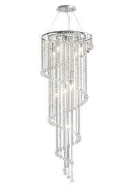 Atla Crystal Ceiling Lights Diyas Contemporary Chandeliers