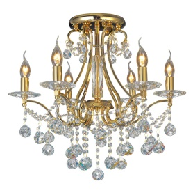 Bianco Crystal Ceiling Lights Diyas Contemporary Chandeliers