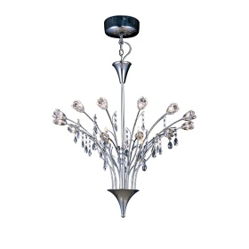 Bouquet Crystal Ceiling Lights Diyas Contemporary Chandeliers