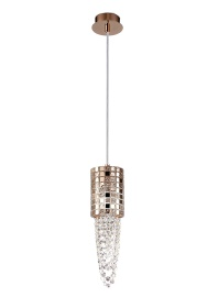 Camden Crystal Ceiling Lights Diyas Single Crystal Pendants