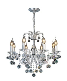 Corona Crystal Ceiling Lights Diyas Contemporary Chandeliers