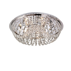 Cosmos Crystal Ceiling Lights Diyas Flush Crystal Fittings