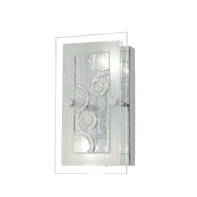 Destello Crystal Wall Lights Diyas Flush Crystal Wall Lights