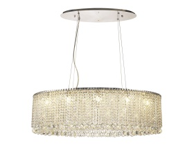 IL31734  Empire Crystal Pendant Chandelier 10 Light