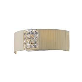 Evelyn Crystal Wall Lights Diyas Flush Crystal Wall Lights