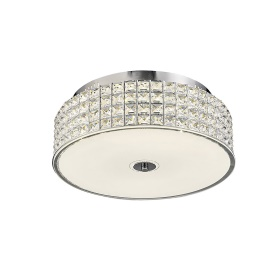 Hawthorne Crystal Ceiling Lights Diyas Flush Crystal Fittings