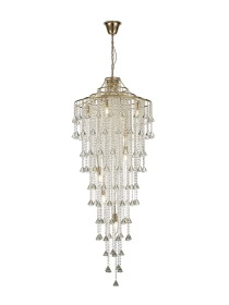 Inina Crystal Ceiling Lights Diyas Contemporary Chandeliers