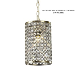 Kudo Crystal Ceiling Lights Diyas Non Electric Crystal Pendant